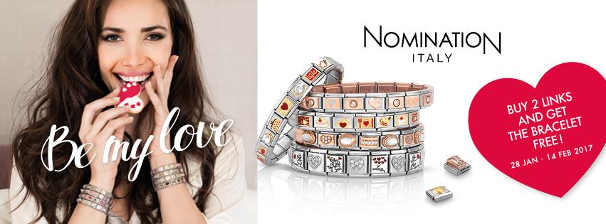 Nomination Free Bracelet Valentine Offer at The Present Shop