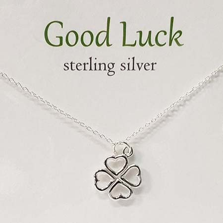 St Patrick's Day gift idea. Good Luck Pendant from The Pendant and Card Collection.