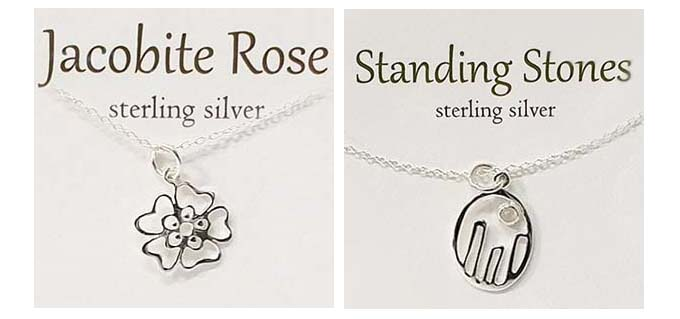 Ootlander inspired pendant designs from The Silver Studio Pendant and Card Collection.