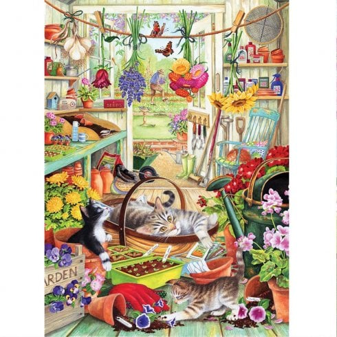 Otter House 1000 Piece Jigsaw - Allotment Kittens