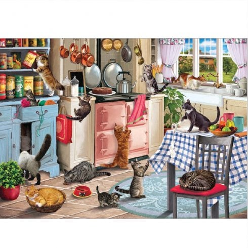 Otter House 1000 Piece Jigsaw - Cats In The Kitchen