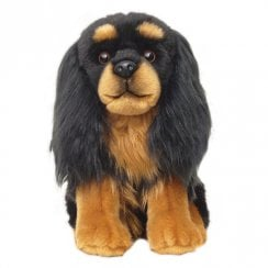 "12"" Cavalier Black And Tan Soft Toy"