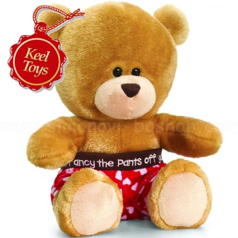 Keel Toys 14cm Pipp The Bear Valentine Underpants