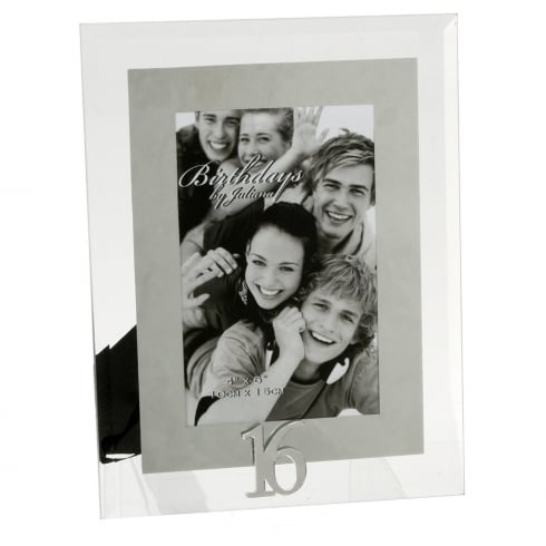 Impressions By Juliana 16th Birthday Glass and Mirror 4 x 6 Photo Frame