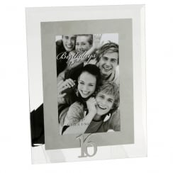 16th Birthday Glass and Mirror 4 x 6 Photo Frame