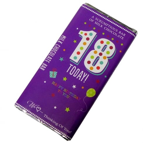 Words & Wishes 18 Today! Milk Chocolate Bar