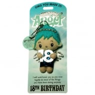 18th Birthday Angel Keyring