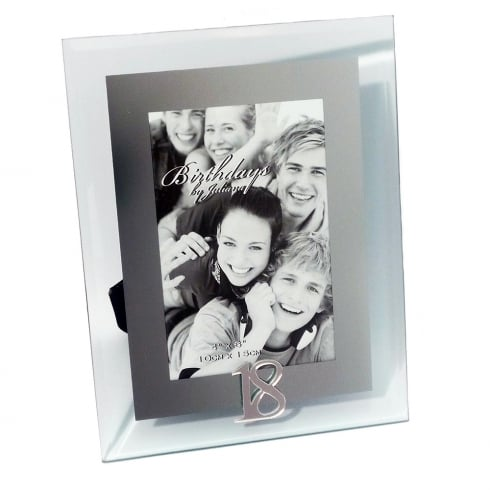 Impressions By Juliana 18th Birthday Glass and Mirror 4 x 6 Photo Frame