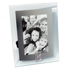 18th Birthday Glass and Mirror 4 x 6 Photo Frame