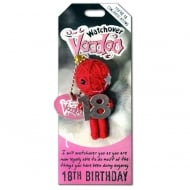 18th Birthday Voodoo Keyring