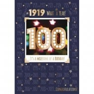 1919 What A Year 100th Male Birthday Card