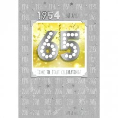 1954 What A Year! Time To Start Celebrating 65th Male Birthday Card