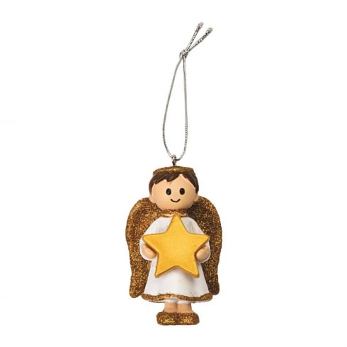 1st Christmas - Angel Boy Hanging Ornament