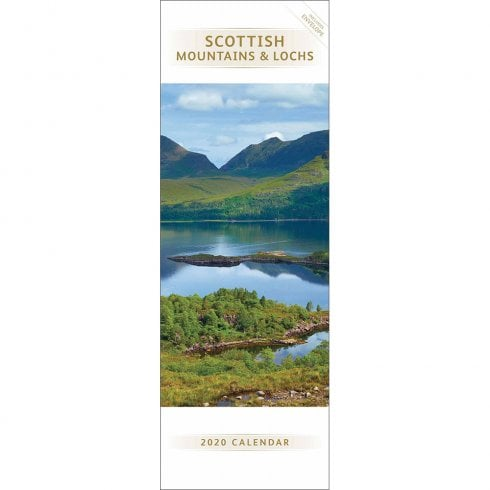 Otter House 2020 Scottish Mountains & Lochs Slim Calendar