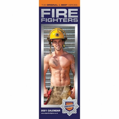 Otter House 2021 Slim Calendar-Fire Fighters
