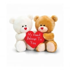 20cm Hugging Pipp The Bear W/Heart Sitting