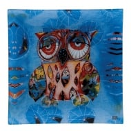 20cm Small Owl Glass Plate