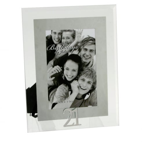 Impressions By Juliana 21st Birthday Glass and Mirror 4 x 6 Photo Frame