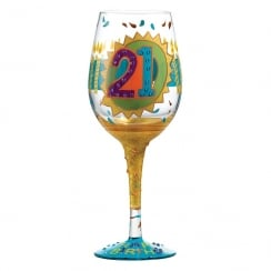 21st Birthday Glass