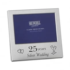 25 Years Silver Wedding Anniversary 5 x 3.5 Photo Frame