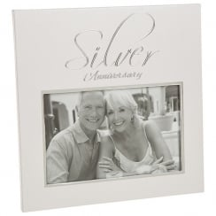 25th Silver Anniversary 6 x 4 Photo Frame
