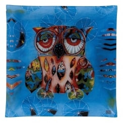 30cm Large Owl Glass Plate