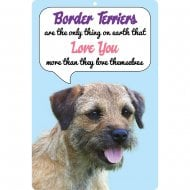 3D Dog Loves You Hang Up Border Terrier