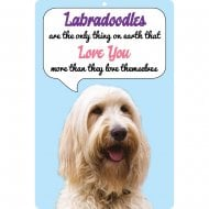 3D Dog Loves You Hang Up Labradoodle