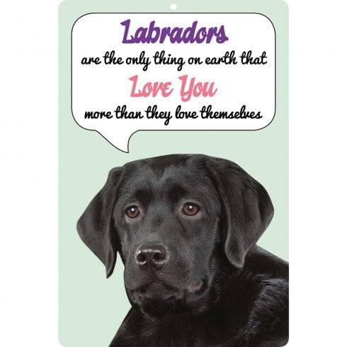 Faithful Friends Collectables 3D Dog Loves You Hang Up Labrador (Black)