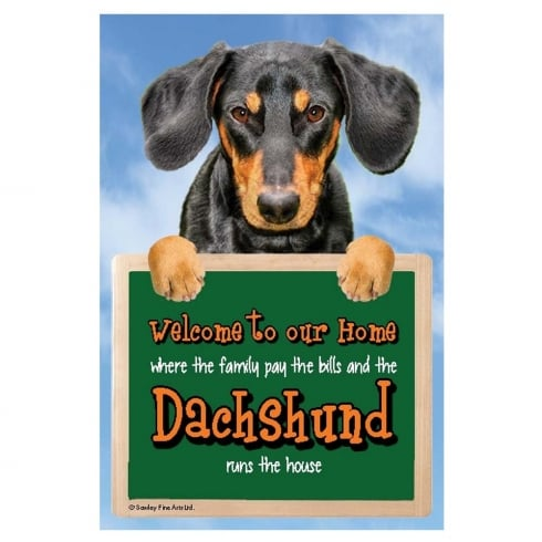 Faithful Friends Collectables 3D Home Hang-Up Dachshund (Black & Tan)
