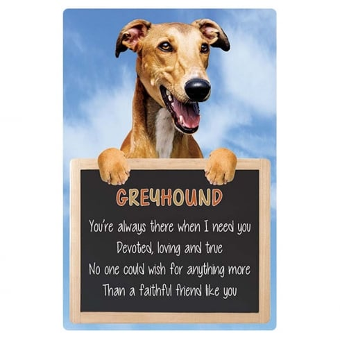 Faithful Friends Collectables 3D Home Hang-Up Greyhound
