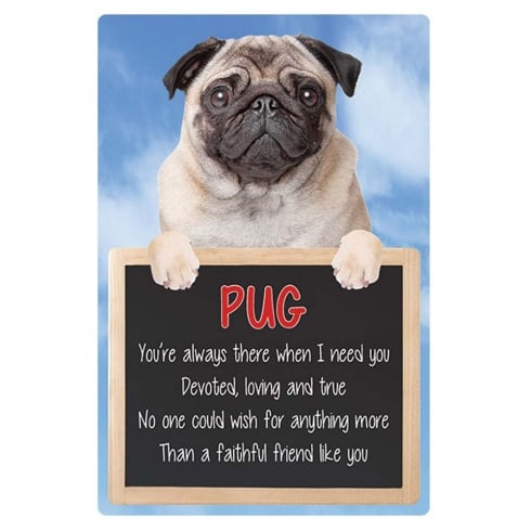 Faithful Friends Collectables 3D Home Hang-Up Pug