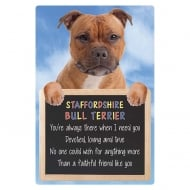 3D Home Hang-Up Staffordshire Bull Terrier (Red)