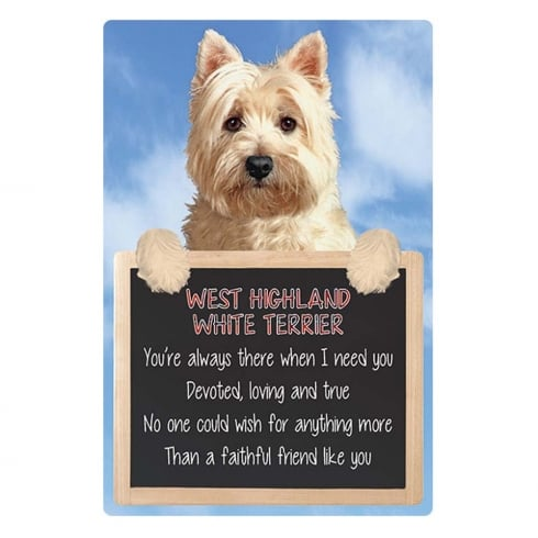 Faithful Friends Collectables 3D Home Hang-Up West Highland Terrier