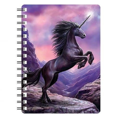 Faithful Friends Collectables 3D Notepad Black Unicorn