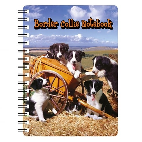 Faithful Friends Collectables 3D Notepad Border Collie Puppies