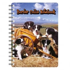3D Notepad Border Collie Puppies