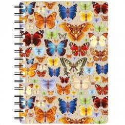 3D Notepad Butterflies Repeat Design