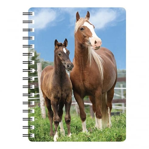 Faithful Friends Collectables 3D Notepad Palamino Horse & Foal
