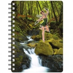 3D Notepad Spring Fairy Dancing By Waterfall