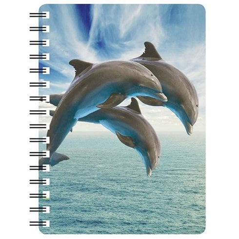 Faithful Friends Collectables 3D Notepad Three Dolphins