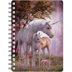 3D Notepad Unicorn Mare & Foal