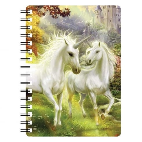 Faithful Friends Collectables 3D Notepad Unicorn Pair