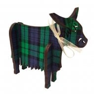 3D Standing Highland Cow Black Watch