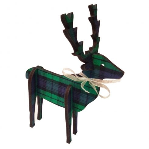 Artcuts 3D Standing Stag 14cm Black Watch