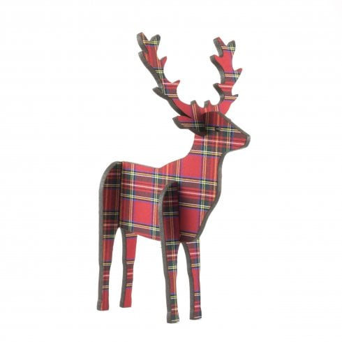 Artcuts 3D Standing Stag 14cm Royal Stewart