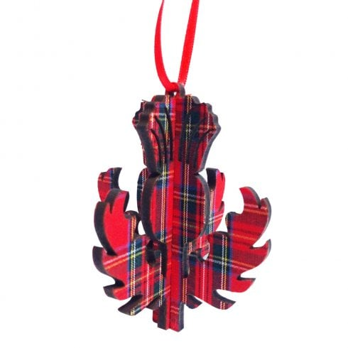 Artcuts 3D Thistle Royal Stewart Hanging Decoration