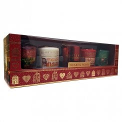 4 Votives & Holder Christmas Gift Set