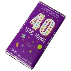 40 Years Young! Milk Chocolate Bar