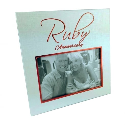 Shudehill Giftware 40th Ruby Anniversary 6 x 4 Photo Frame